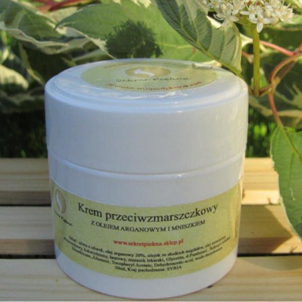 Krem przeciwzmarszczkowy z olejem arganowym i mniszkiem